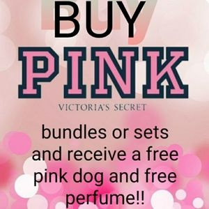 Buy a pink bundle or set and get free gifts